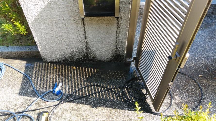 門柱高圧洗浄