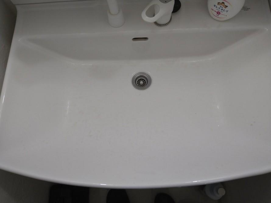 洗面台水垢クリーニング