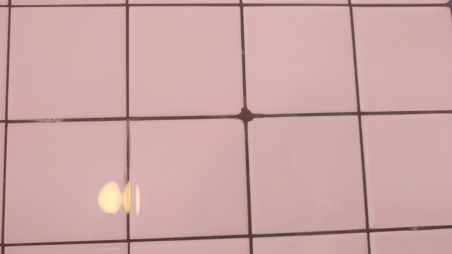 浴室タイルのミズアカ