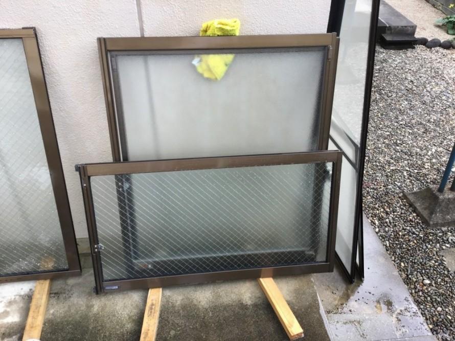ガラスサッシ清掃