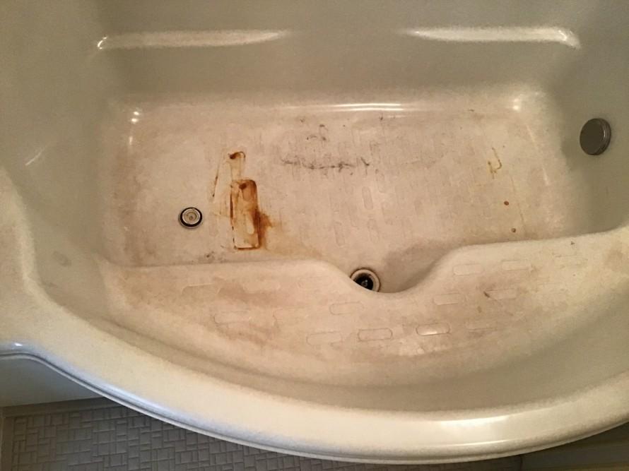 浴室ヘアカラークリーニング