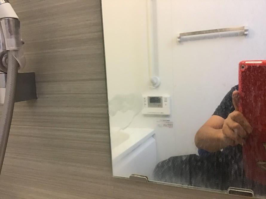 浴室鏡クリーニング