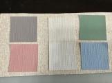 クロス壁紙染色
