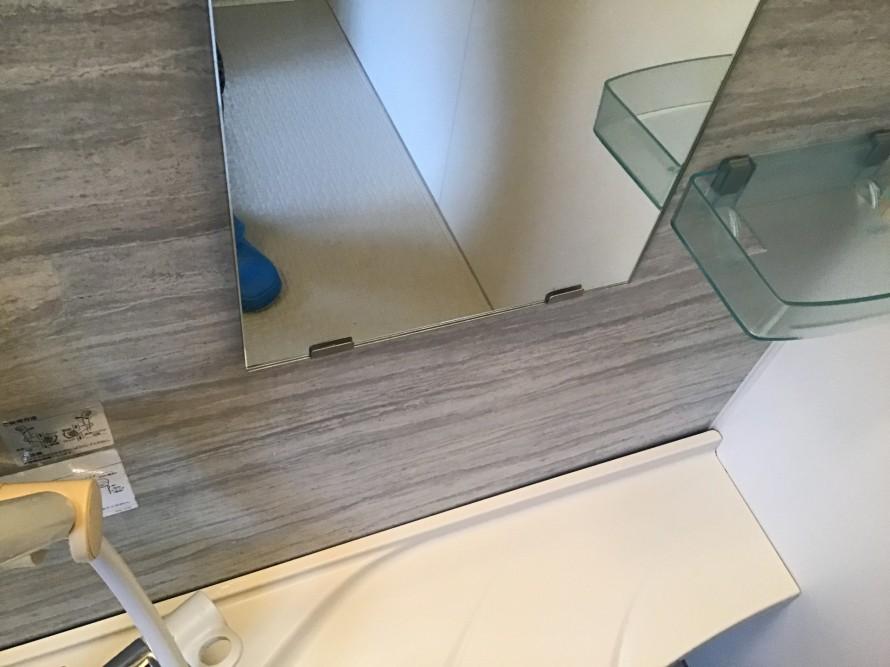 浴室鏡ウロコ