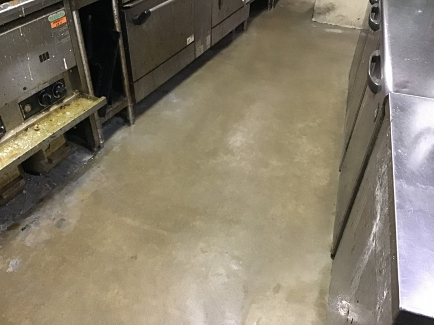 厨房床掃除