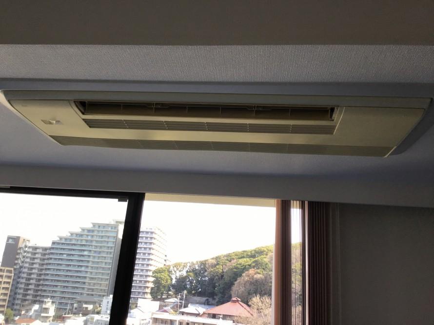 三菱天井埋込エアコンクリーニング