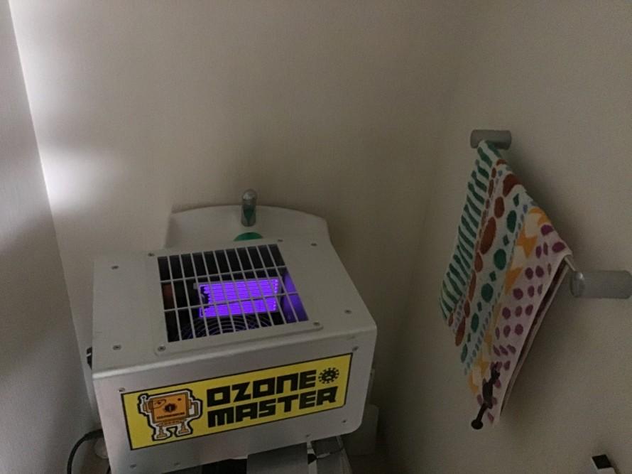 トイレクリーニング後オゾン