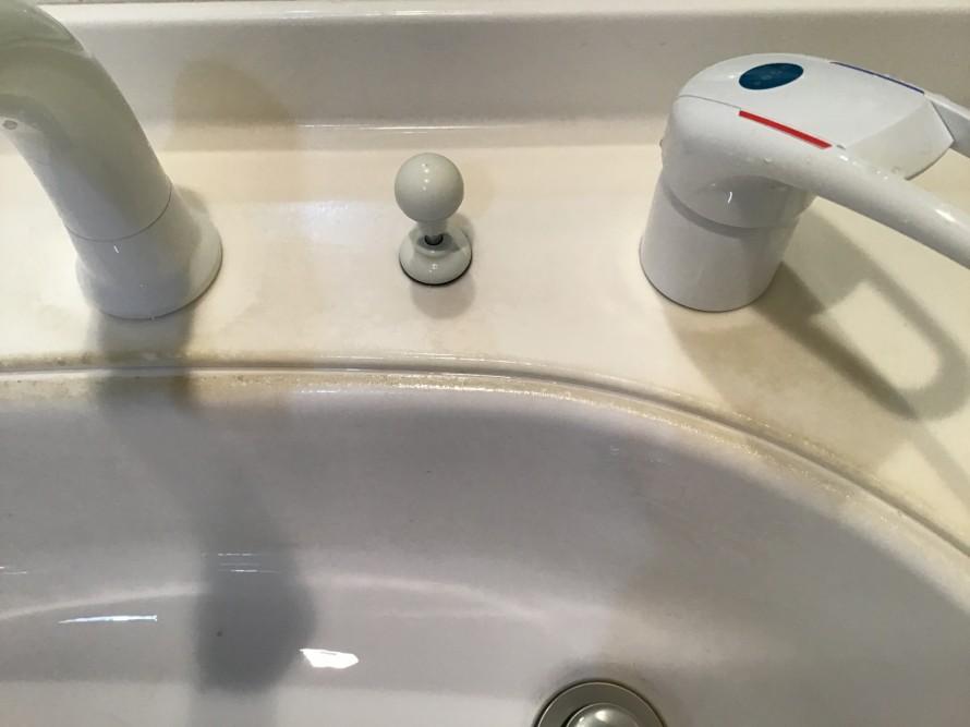 洗面台のクリーニング