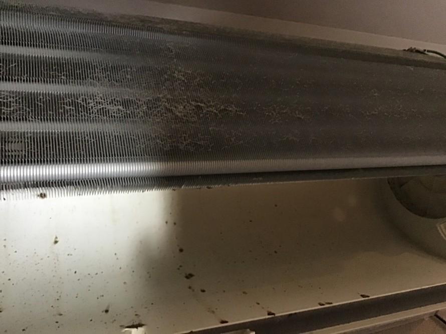 三菱のスタンダードエアコン分解クリーニング