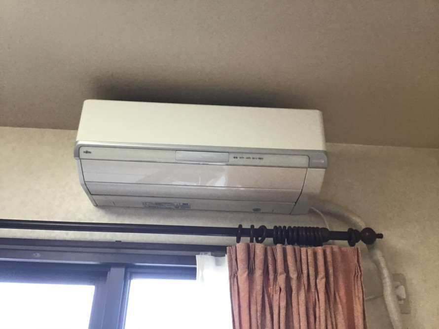 富士通のフィルターおそうじ機能付きエアコンクリーニング